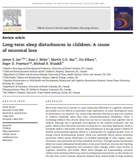 Long term sleep disturbances